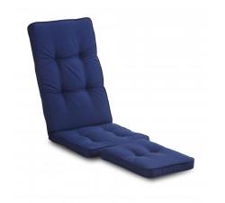 Lobby däckstolsdyna blå